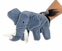 Elefant som hånddukke