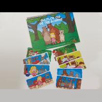 Foldebog og fortællekort: Guldlok og de tre bjørne.