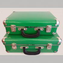 Sæt: Lille og stor grøn kuffert