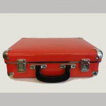 Lille rød robust kuffert