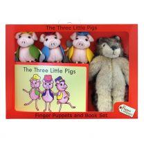 Fingerdukker: De tre små grise