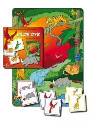 Vendespil med samtaleplade: Vilde dyr